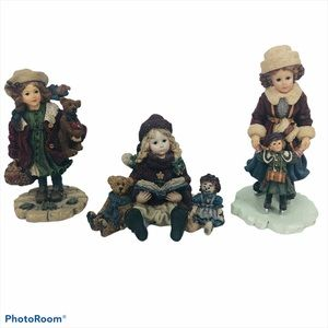 Boyds Bears YESTERDAY' CHILD Figurines Lot of 3